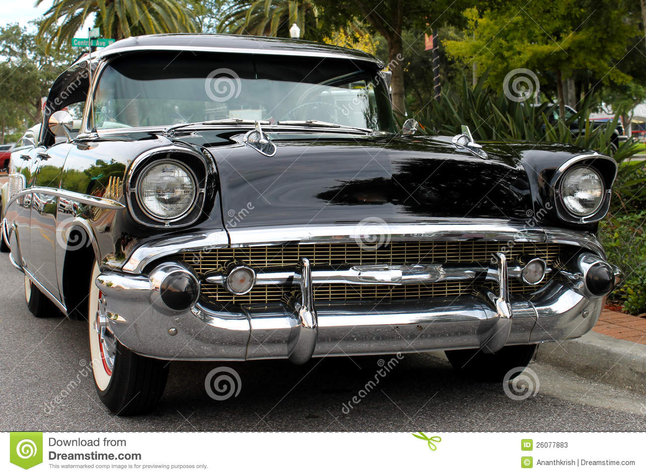 The old Chevrolet car stock image. Image of show, automobiles ...