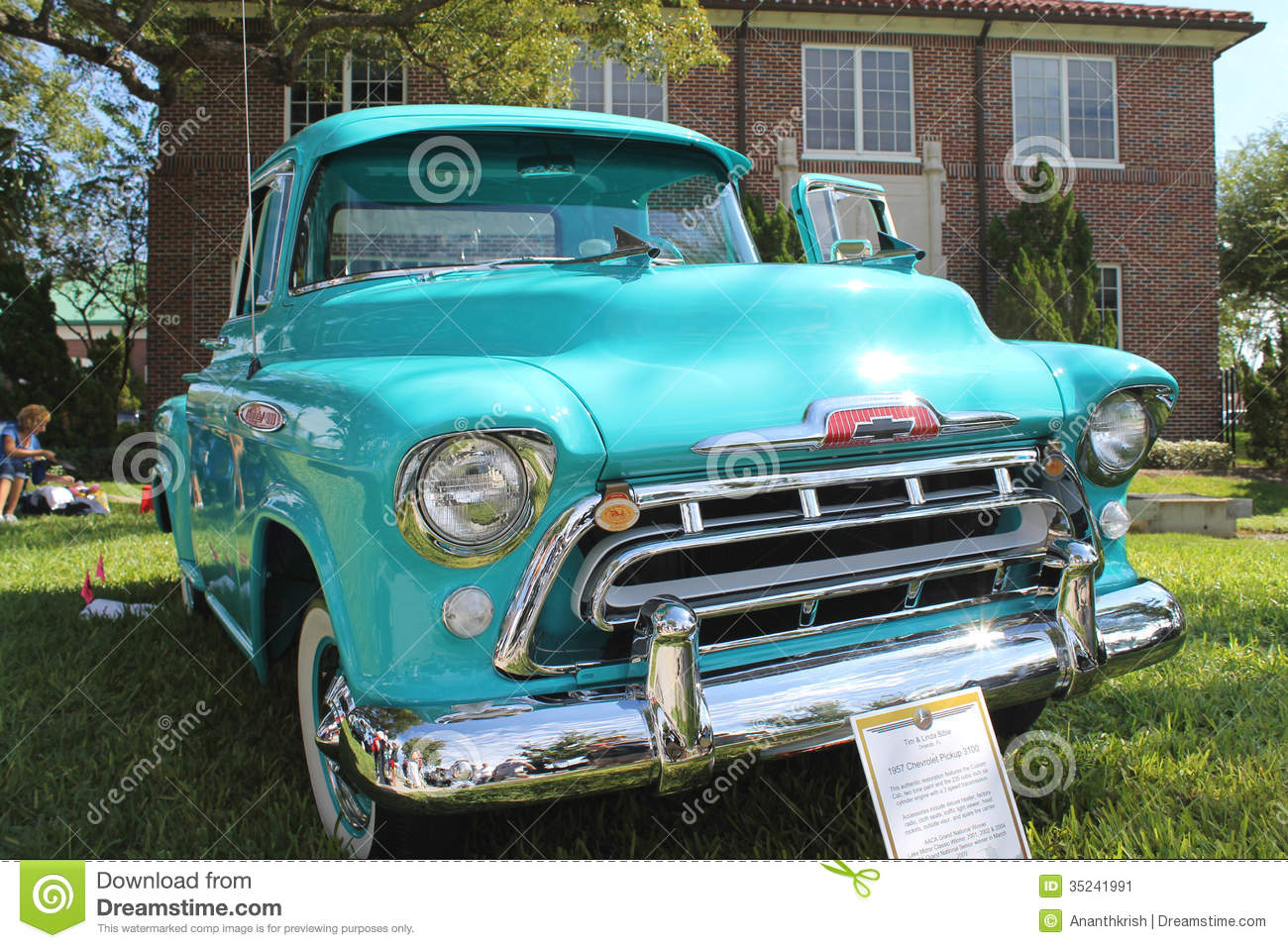 Old Chevrolet Pickup-1957 At The Car Show Editorial Photo - Image of ...