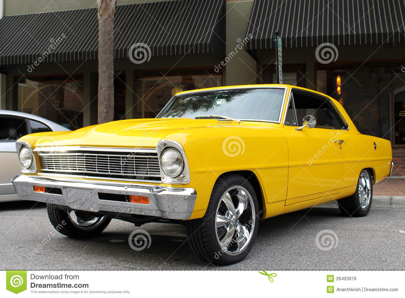 The old Chevy II car stock image. Image of style, chevy - 26403979