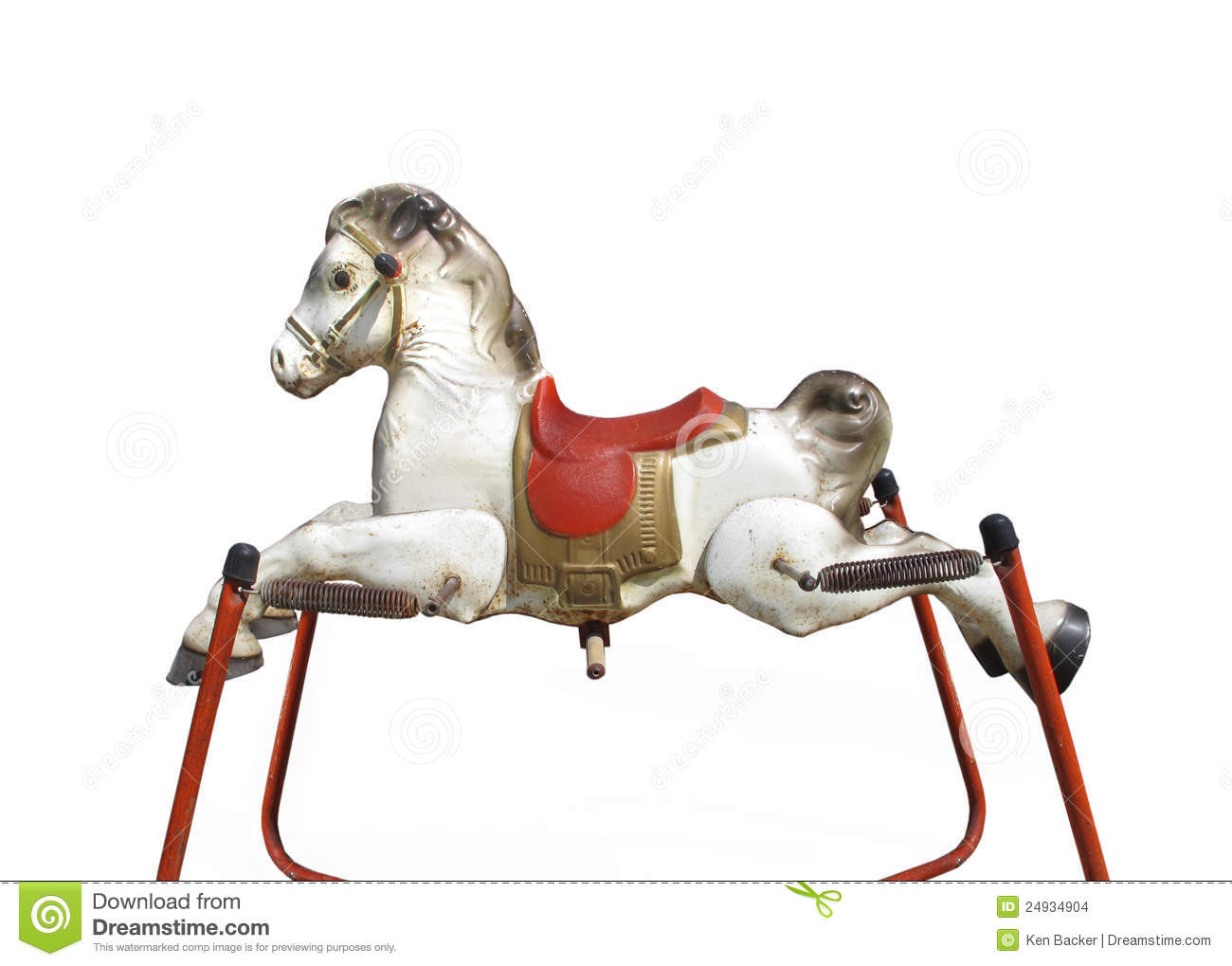 Stock Images Old Child C3 A2 E2 82 AC E2 84 A2s Spring Hobby Horse Isolated Image24934904 on toys r us radio flyer spring rocking horse