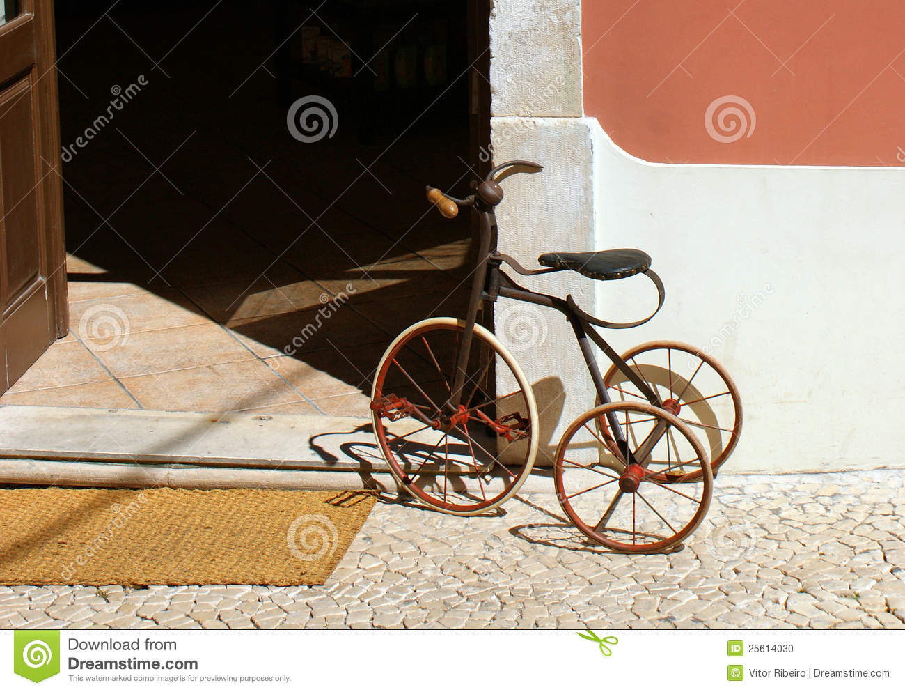 An old child s tricycle