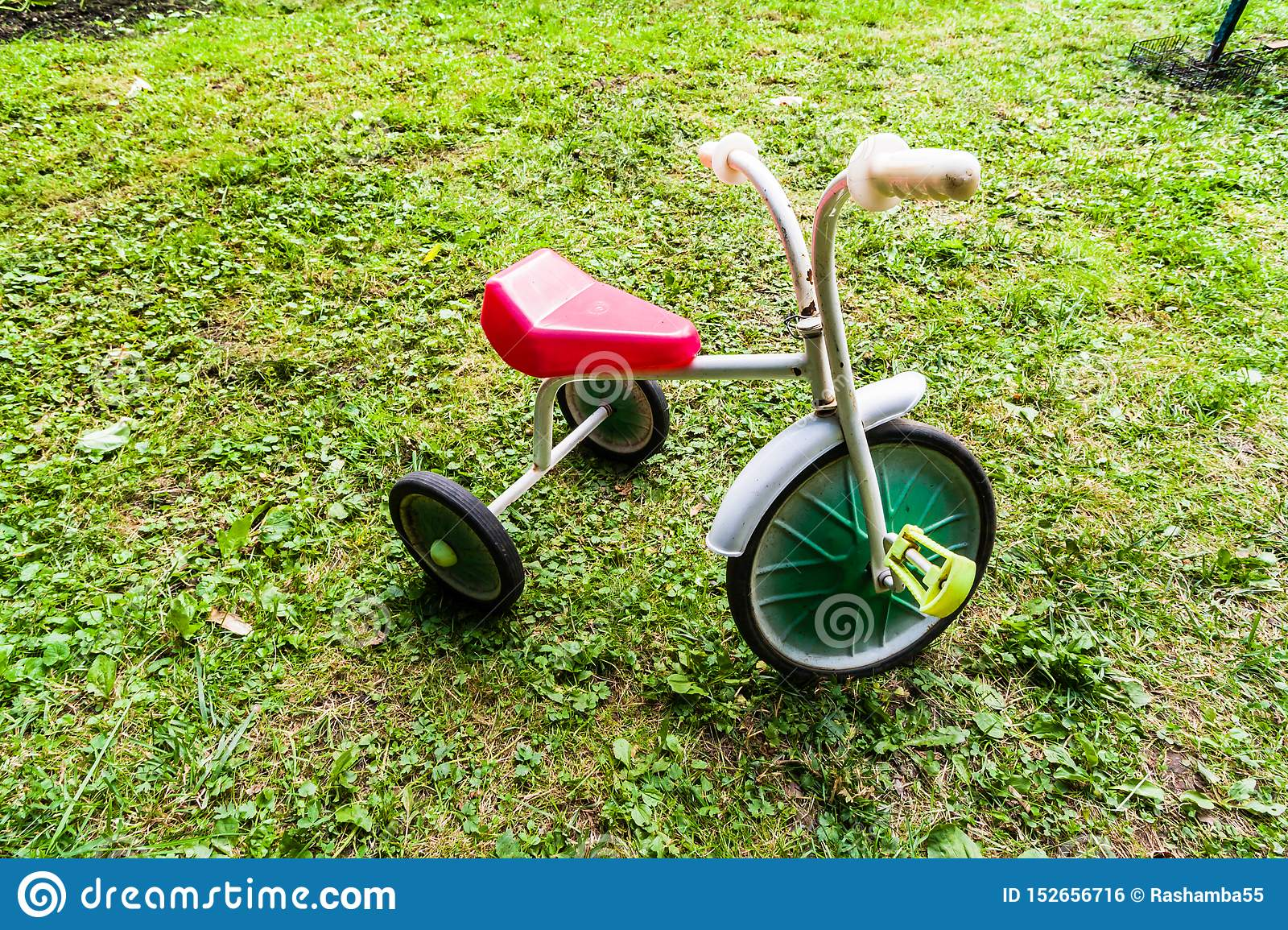 Old Childrens Tricycle Bike Retro Three Wheeled Bicycle Of The 80s Stock Photo Image Of Vintage Wheels 152656716