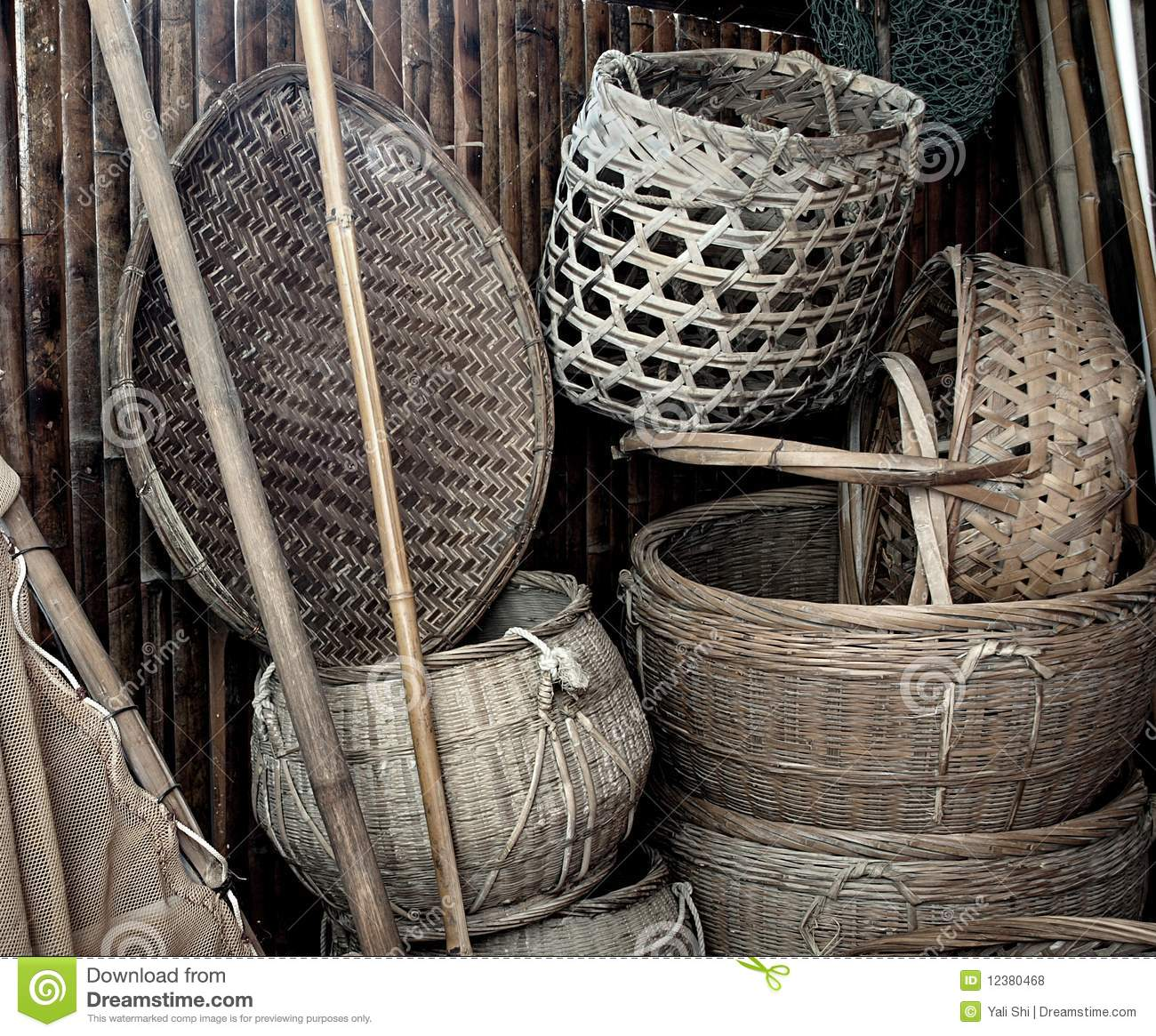 Old Chinese Farm Tools Royalty Free Stock Photos Image