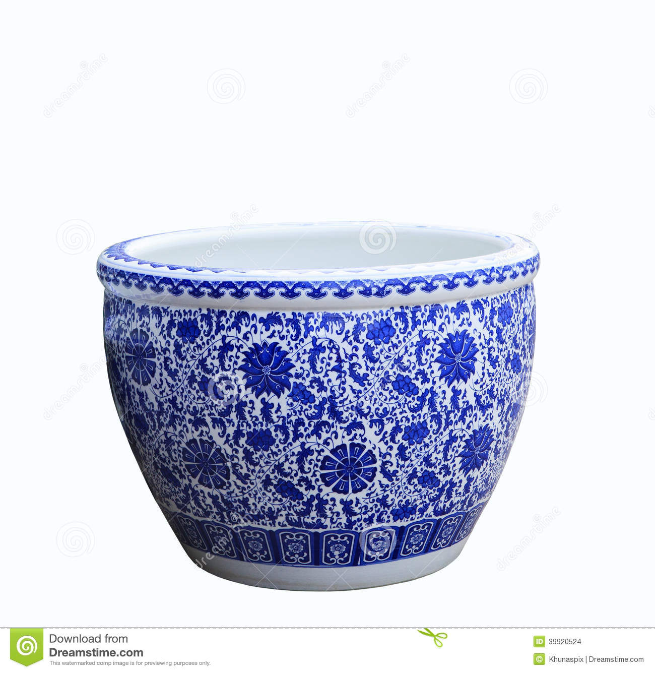 Old Chinese Flowers Pattern Style Painting On The Ceramic Bowl Stock Photo Image 39920524