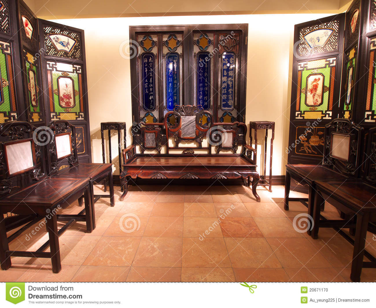 Old chinese living room editorial image. Image of room - 20671170