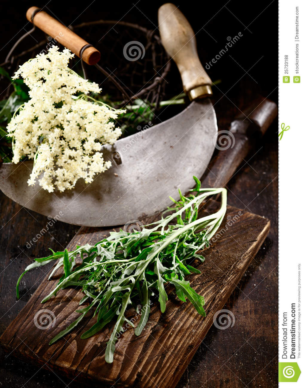 Old Chopping knife with elder