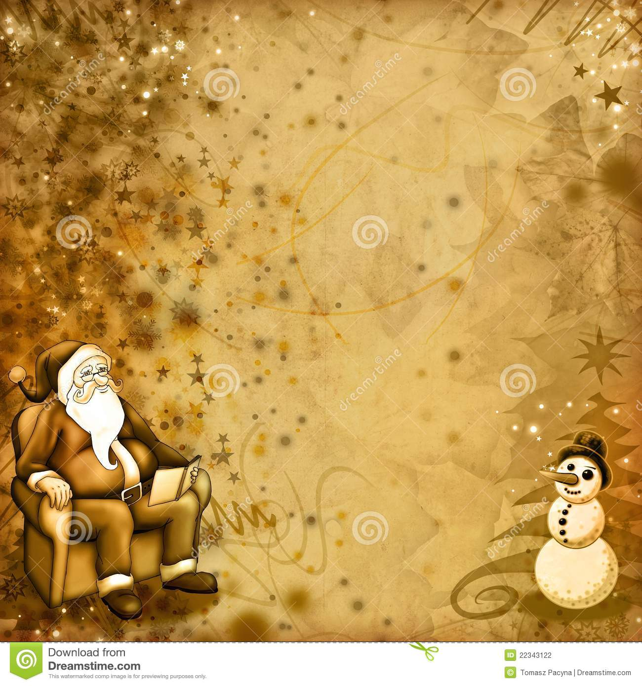 Old Christmas Card Stock Photography - Image: 22343122