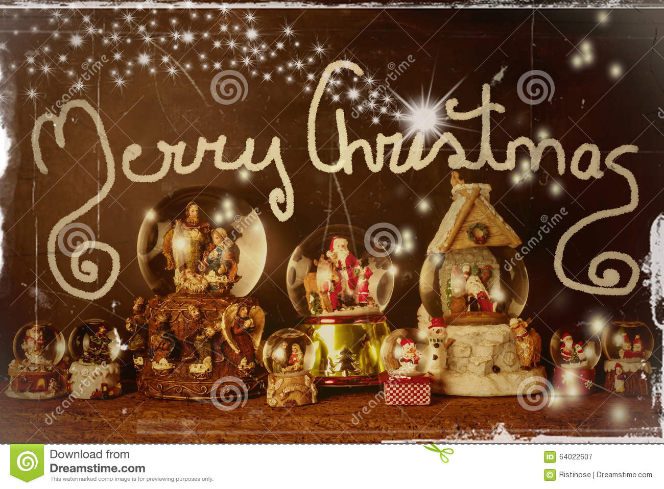 Old Christmas Card Merry Christmas Stock Image - Image of religion ...