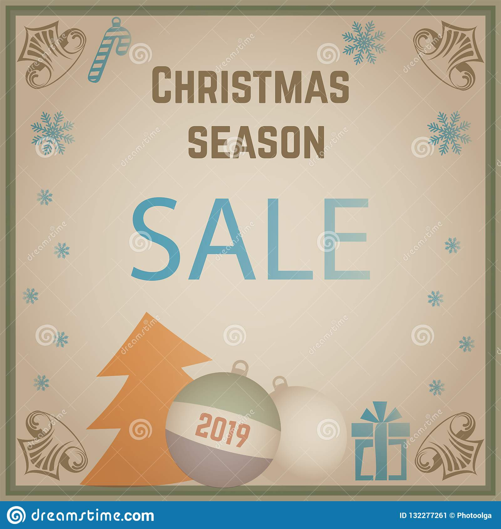 old christmas card sale simple banner for 2019 new year