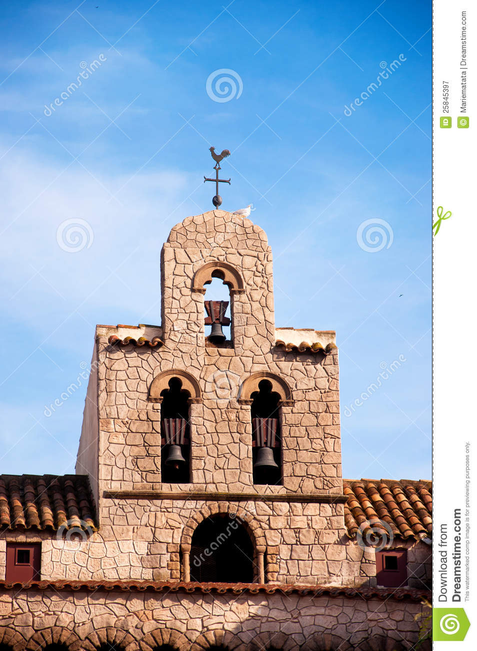 Old Church Bell Tower Royalty Free Stock Photography