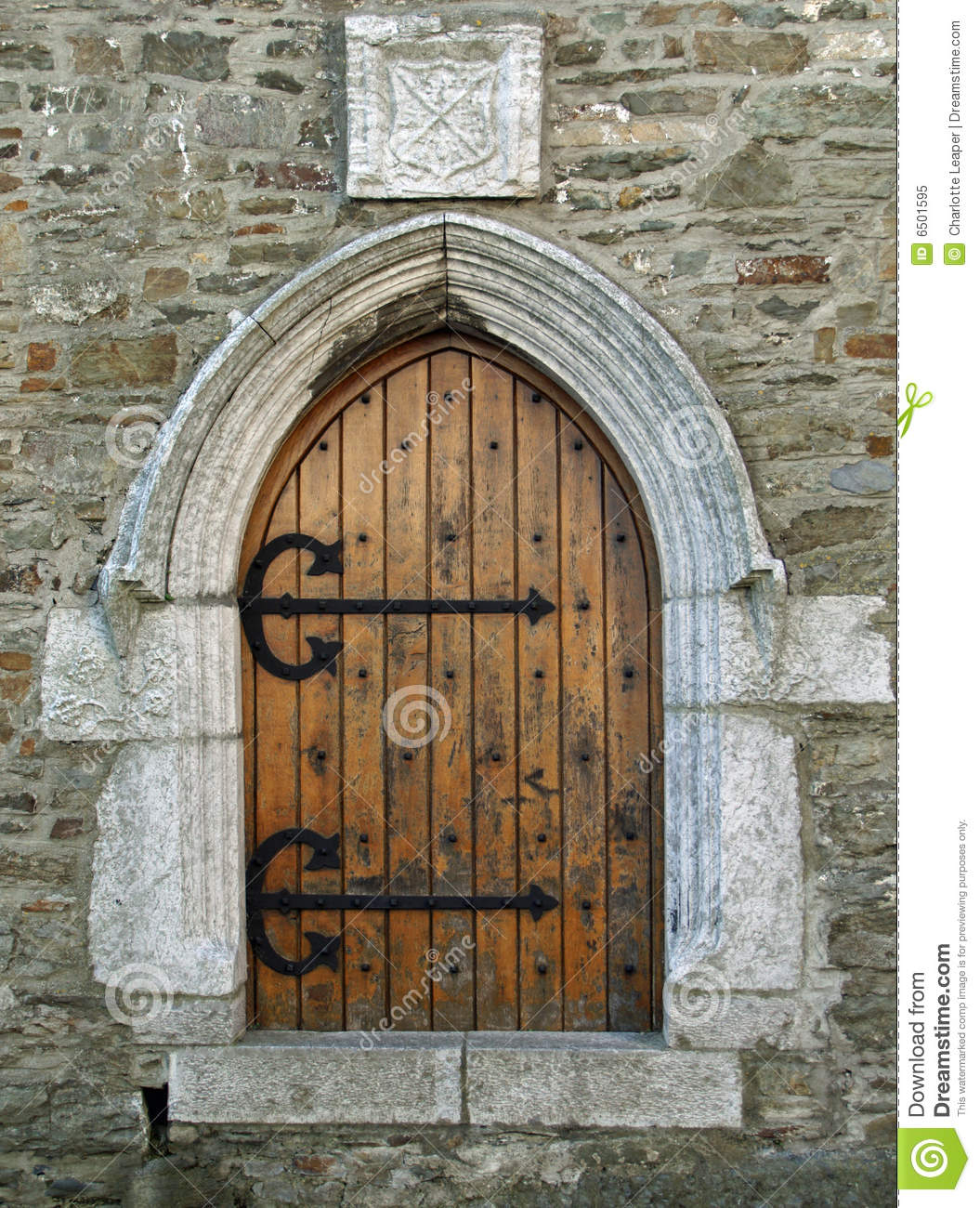 Old Church Door Stock Image Image Of Arms Shield