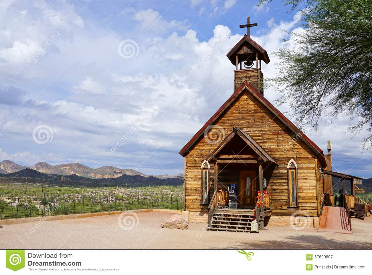 Old Church at Goldfield Ghost Town in Arizona
