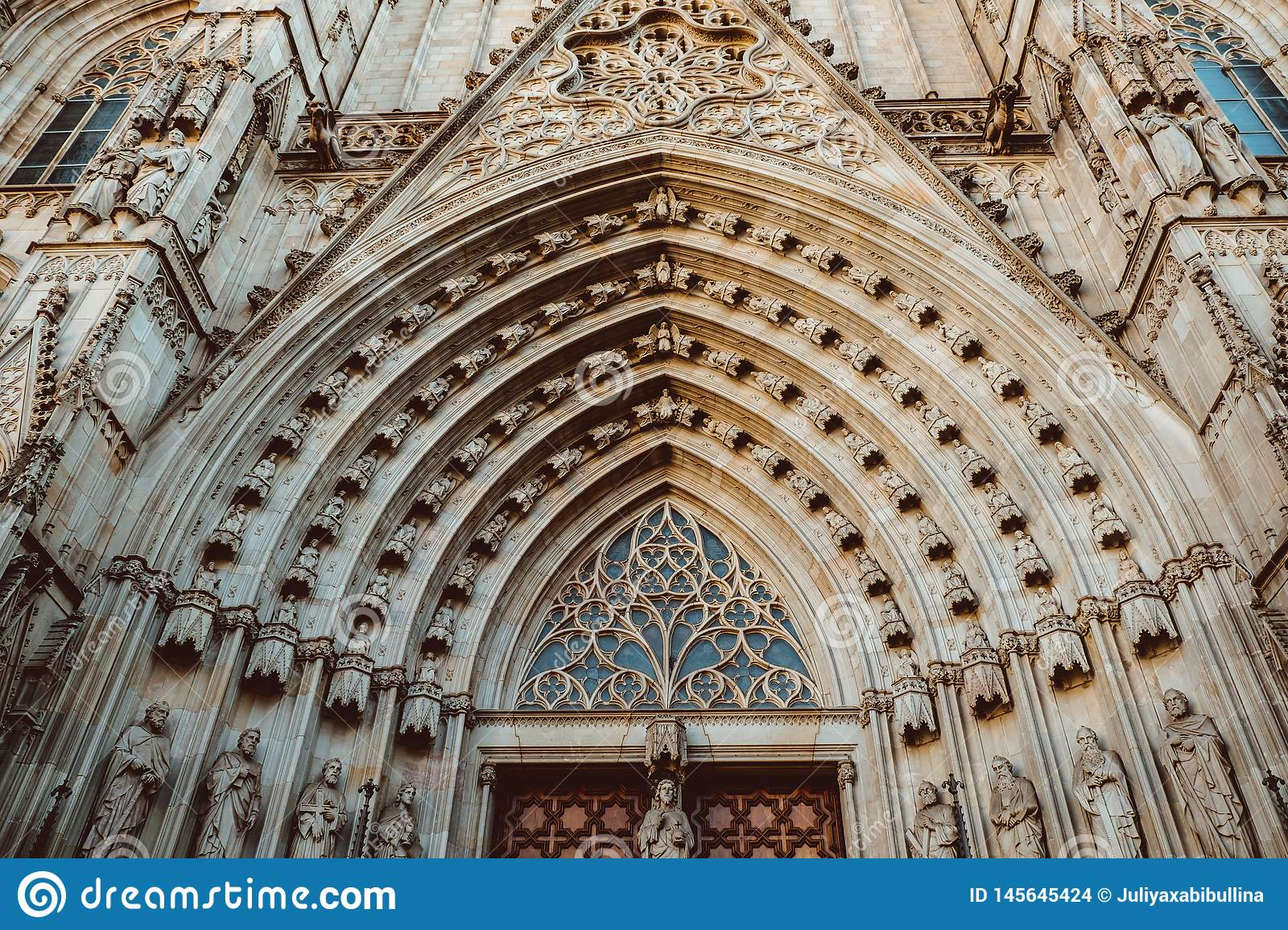 Old Church in the Gothic Quarter of Barcelona. It is aslo called as Barri Gotic