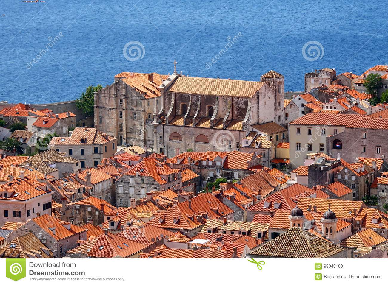 Old church near sea in Dubrovnik stronghold