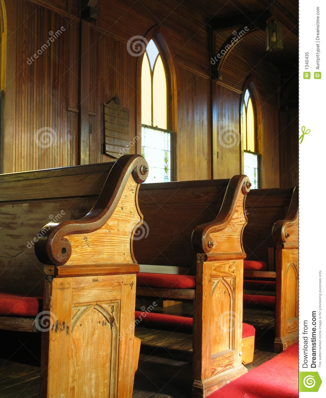 Old Church Pews Royalty Free Stock Photo Image 1340435