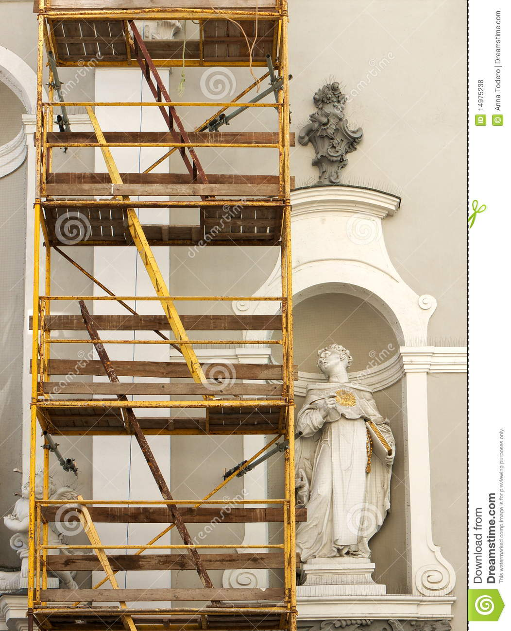 Old Church Under Renovation Royalty Free Stock Photos - Image ...