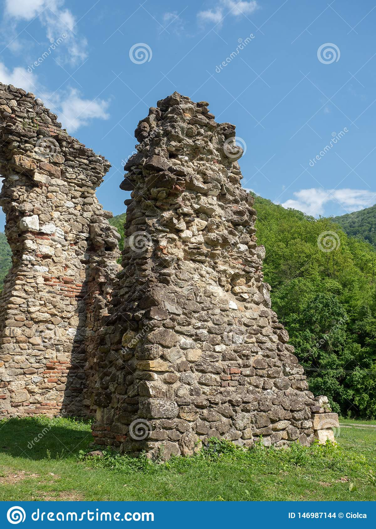 The old church at Vodita monastery, Romania