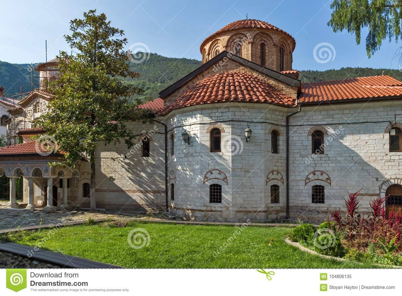 Old churches in Medieval Bachkovo Monastery, Bulgaria