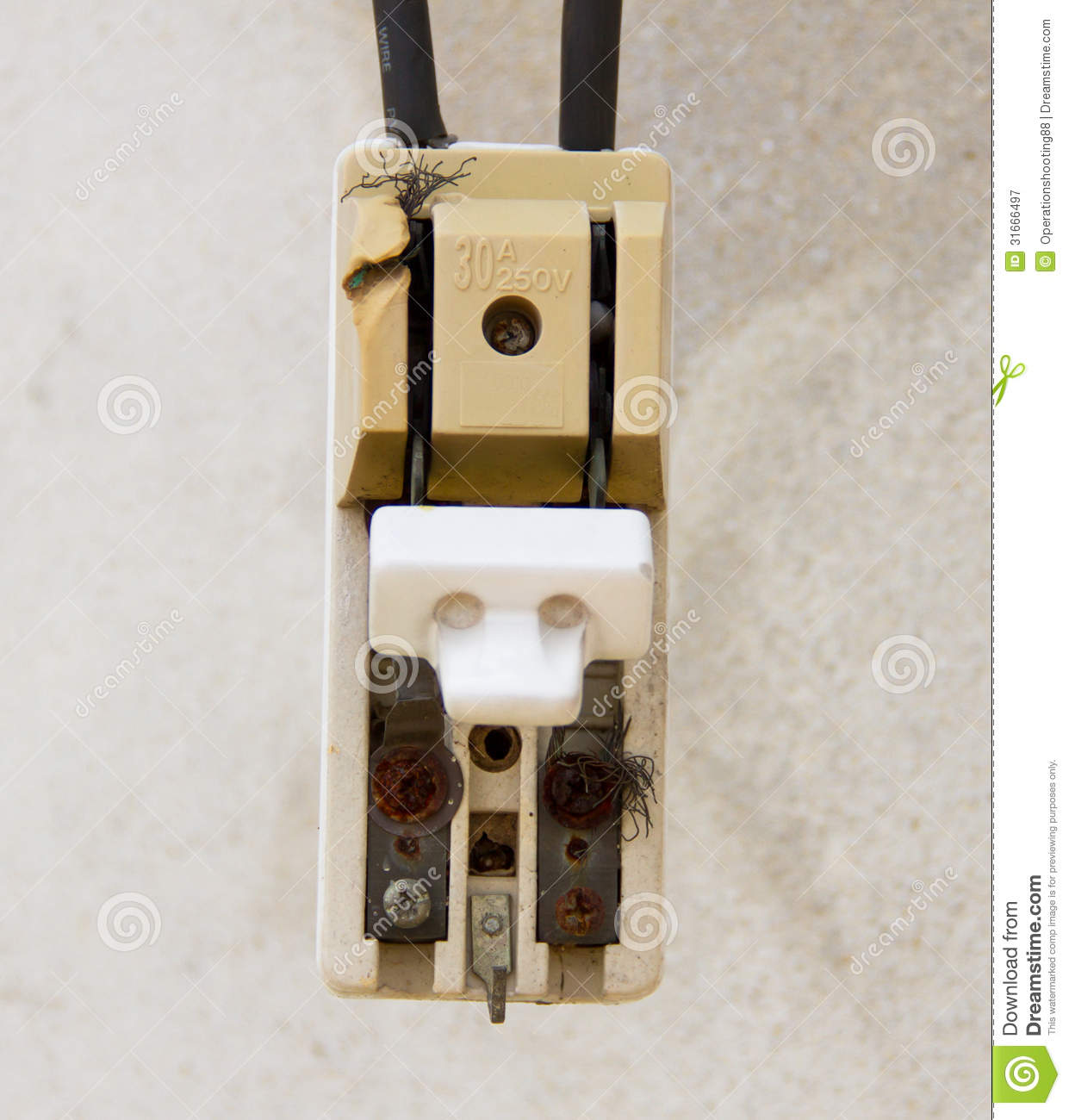 Old Style Fuse Box Circuit Breakers : Old circuit breaker royalty free stock photography image