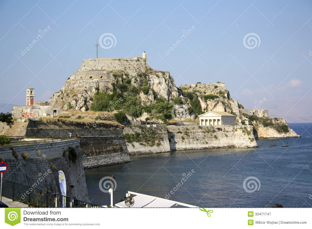 Old Citadel In Corfu Town (Greece) Editorial Photography ...