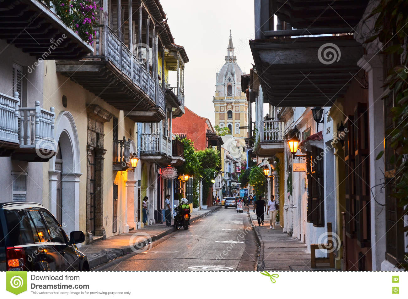 Download Old city of Cartagena editorial image. Image of cathedral - 79610525