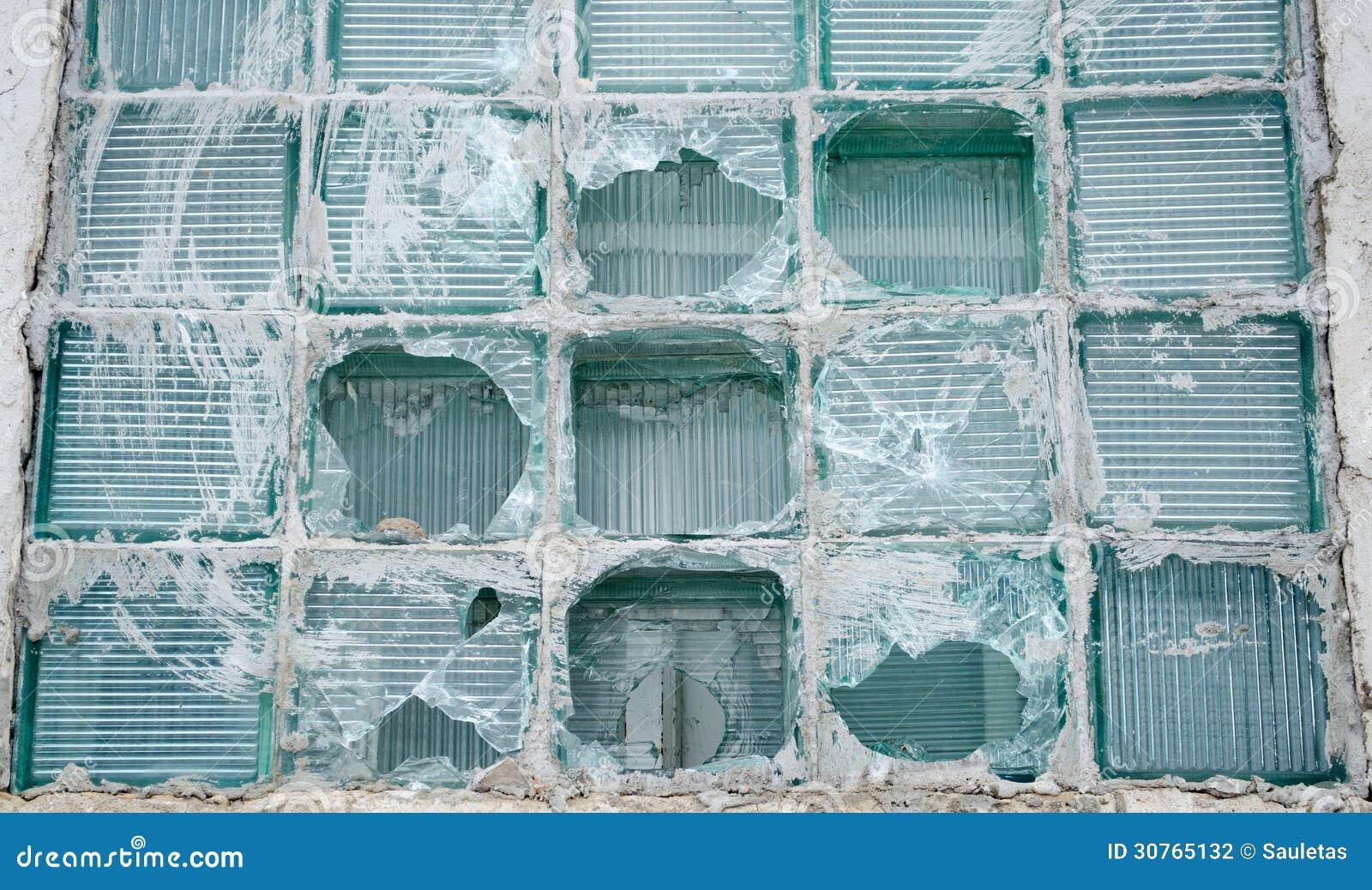 Old ity House Broken hip Window Glass Vandalism Stock ... - ^