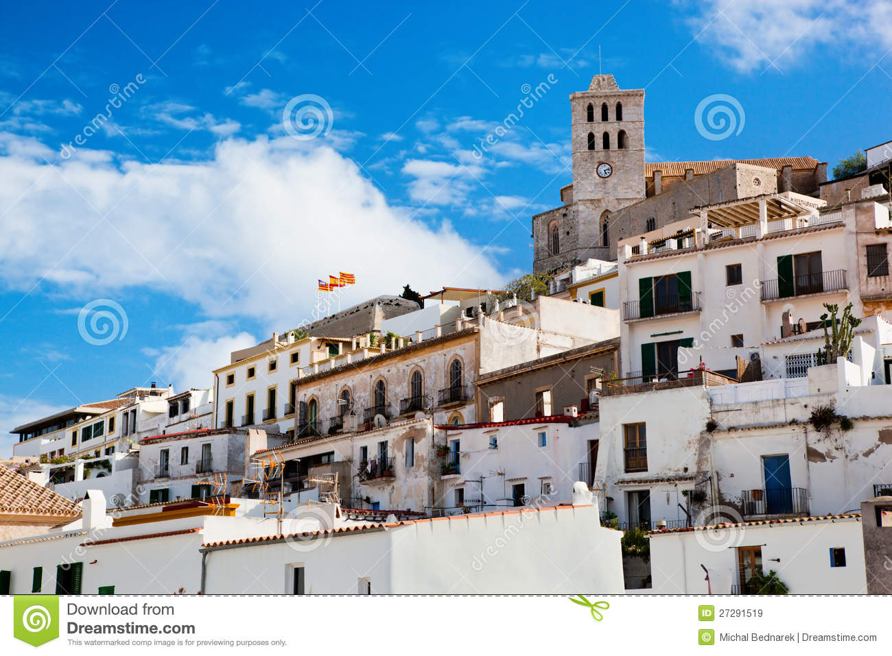 Old city of ibiza spain stock image image of hill for Ibiza classic house
