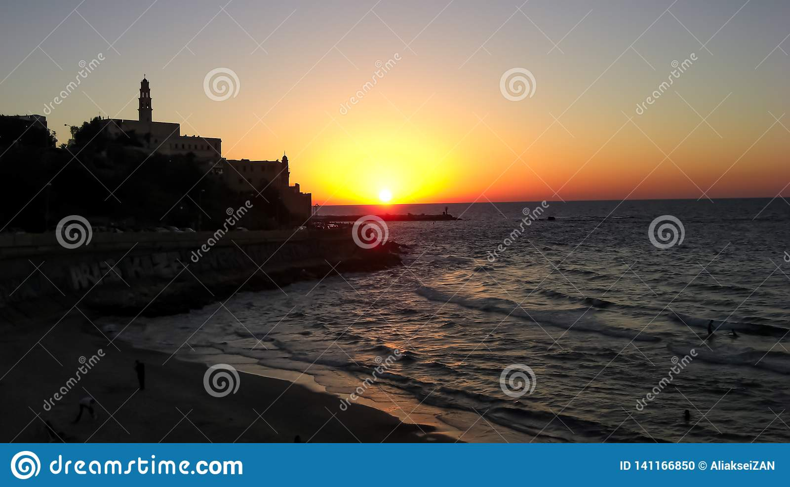 Old City of Jaffa, sunset