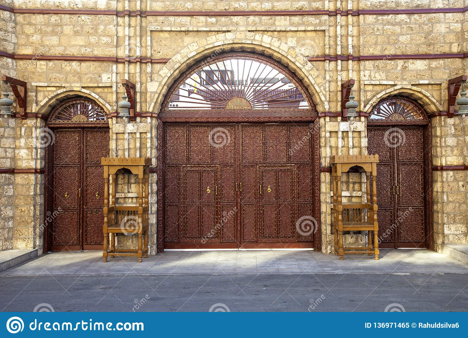 Old city in Jeddah, Saudi Arabia known as Historical Jeddah. Old and heritage Windows and Doors in Jeddah.Saudi Arabia