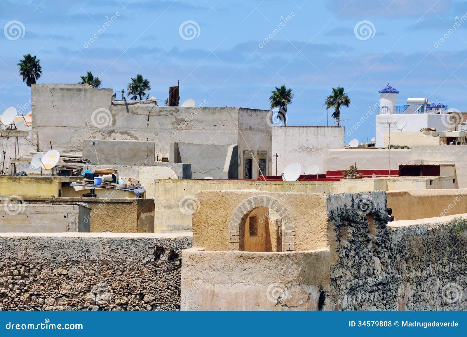 El Jadida Morocco  City new picture : Aerial view of old town of Mazagan, El Jadida, Morocco.