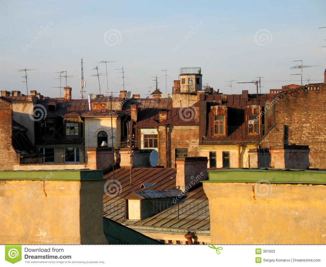 Old City Roof Stock Photos