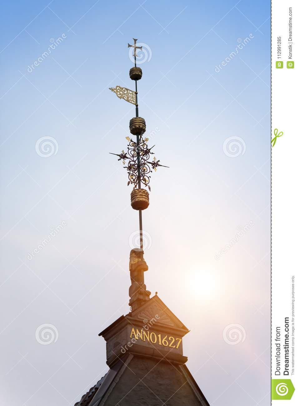Old city, Tallinn, Estonia. A medieval weather vane
