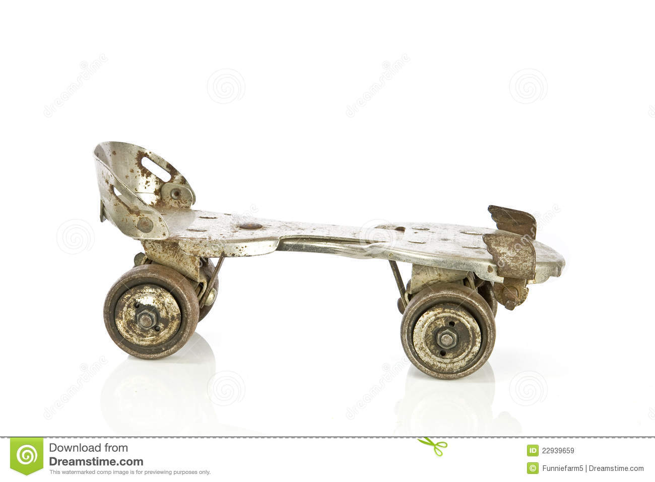 Old Clamp On Roller Skate On White Stock Image Image Of