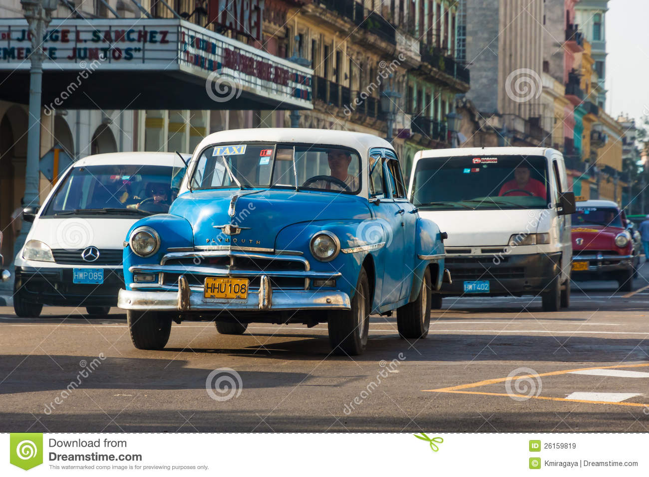 Old classic american car in havana editorial stock image for Old classic american cars