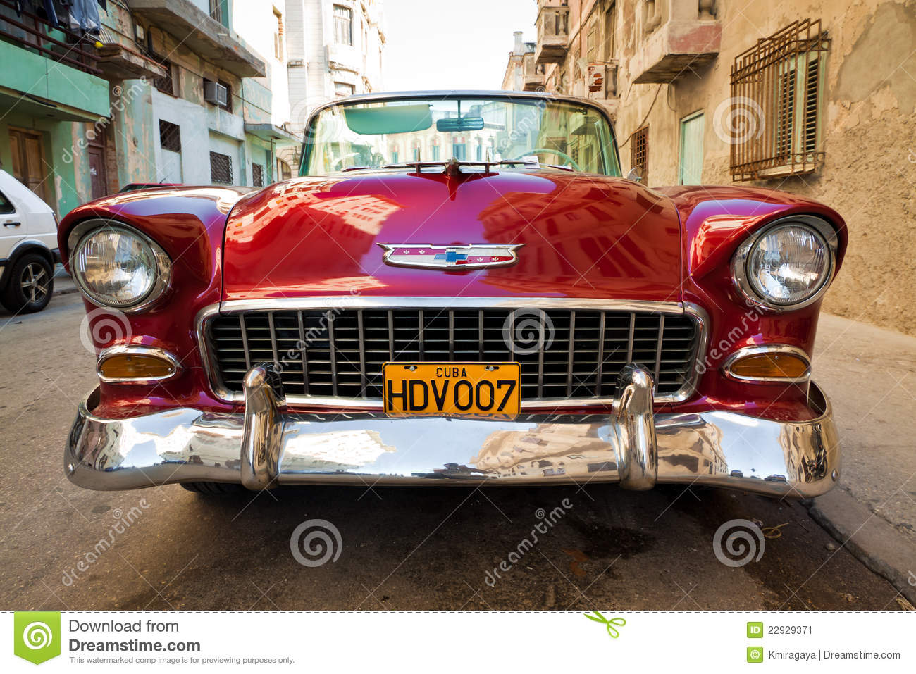 Old classic american car an icon of havana editorial for Old classic american cars