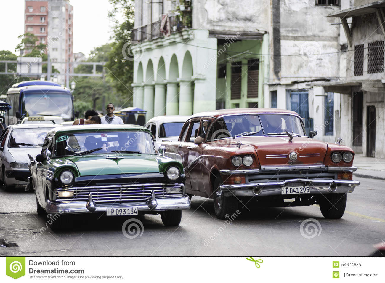 Old Classic American Cars editorial image. Image of cuba - 54674635