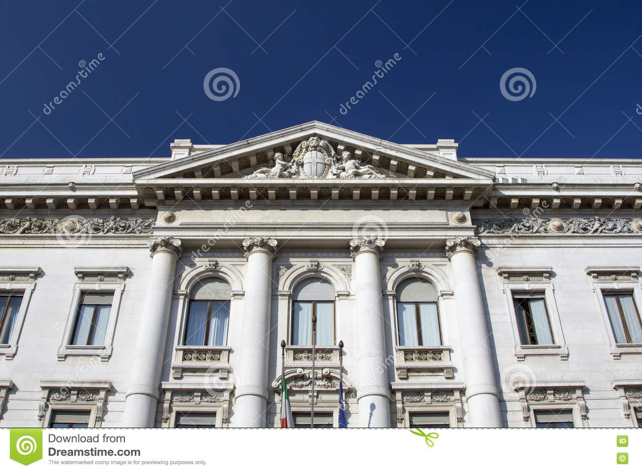Old And Classic Bank Building Stock Image