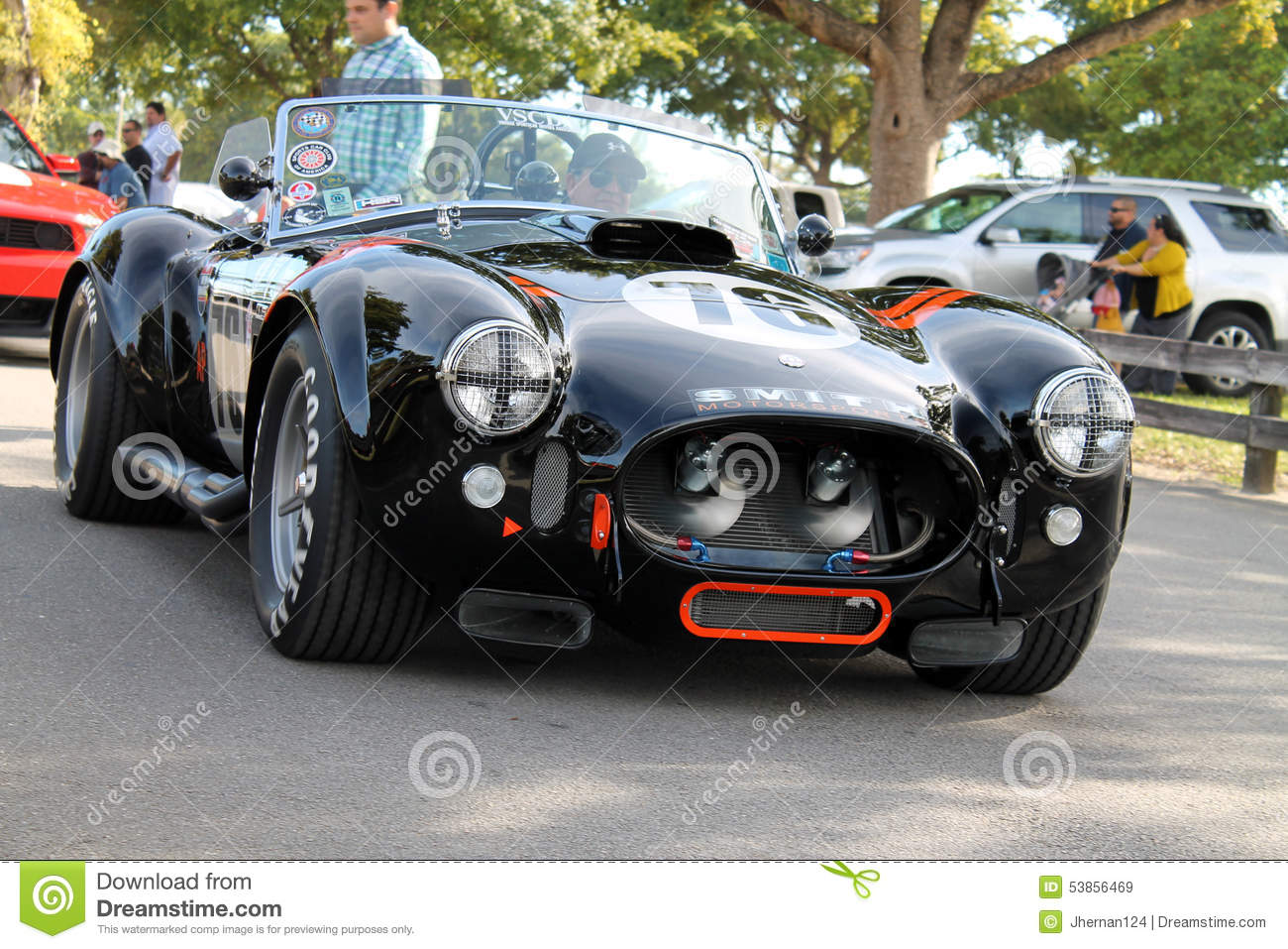 Old Classic Black Racing Car Driven On Road Editorial Stock Image ...