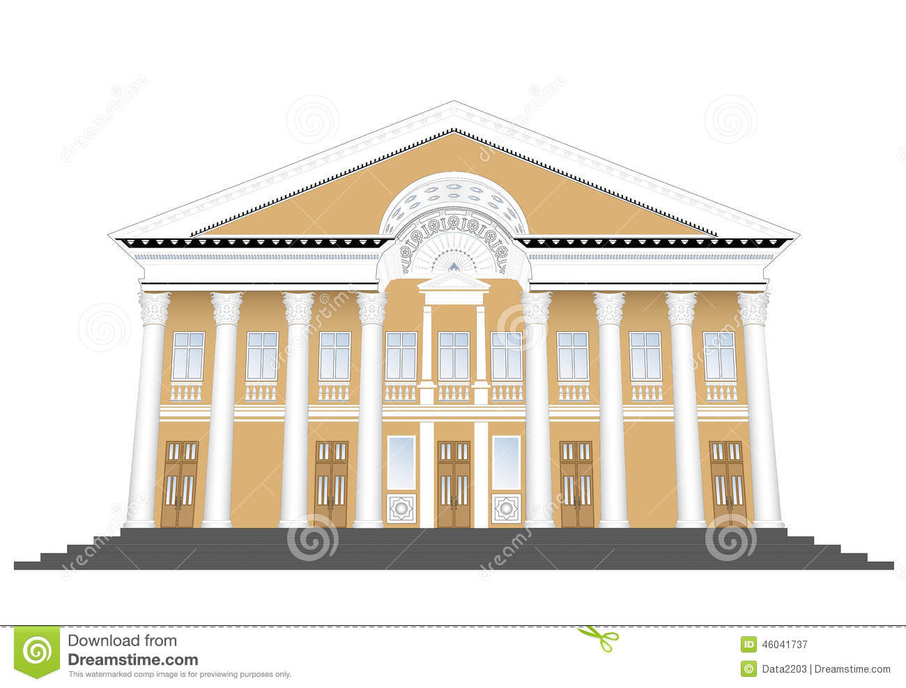 Old classic building stock vector image of columns city for Classic builders