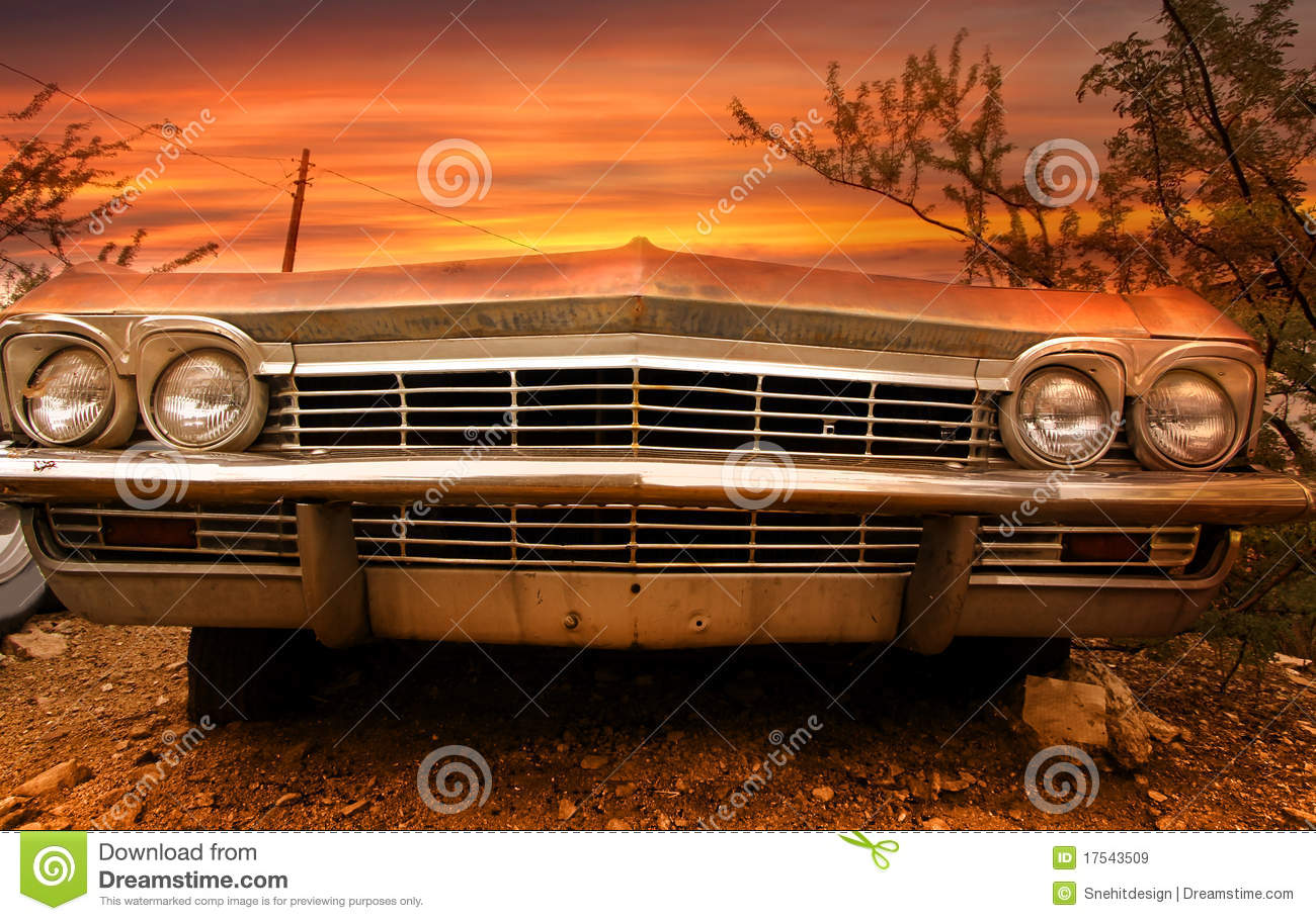 Old classic car stock image. Image of ghost, desert, empty - 17543509