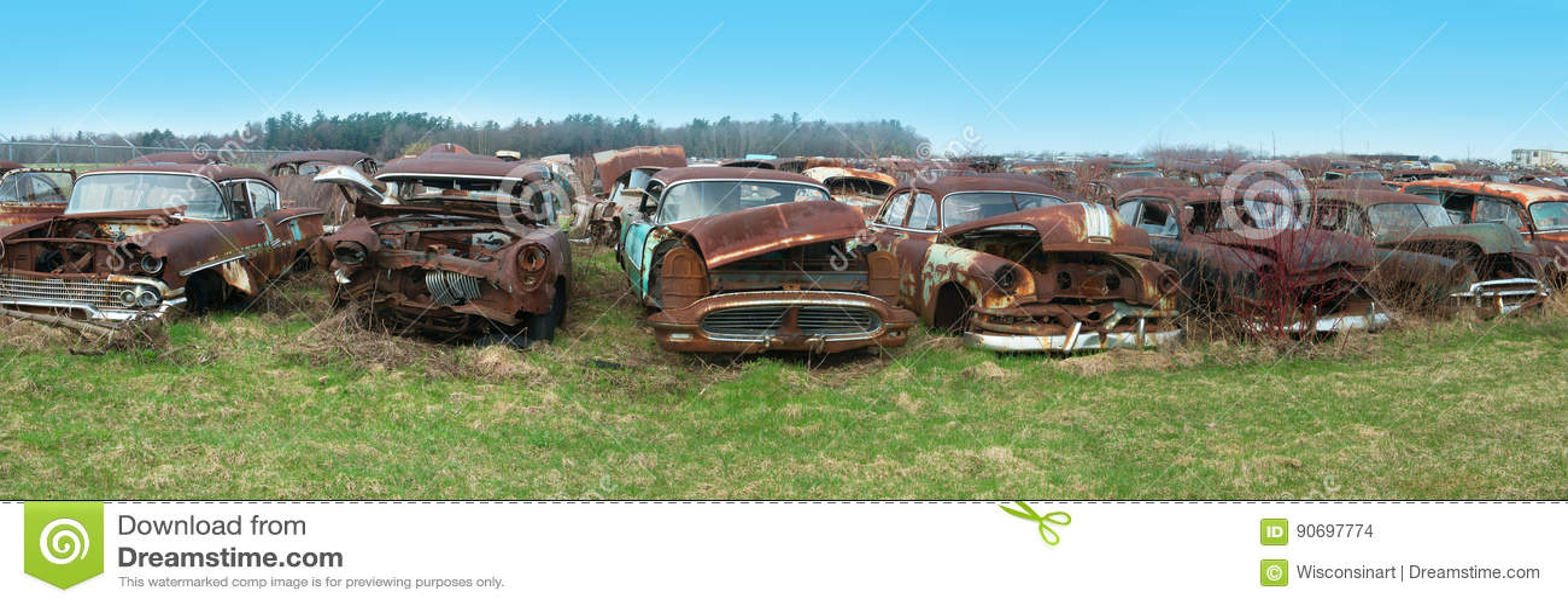 Old Classic Car, Cars, Junkyard Stock Photo - Image of rusty, retro ...
