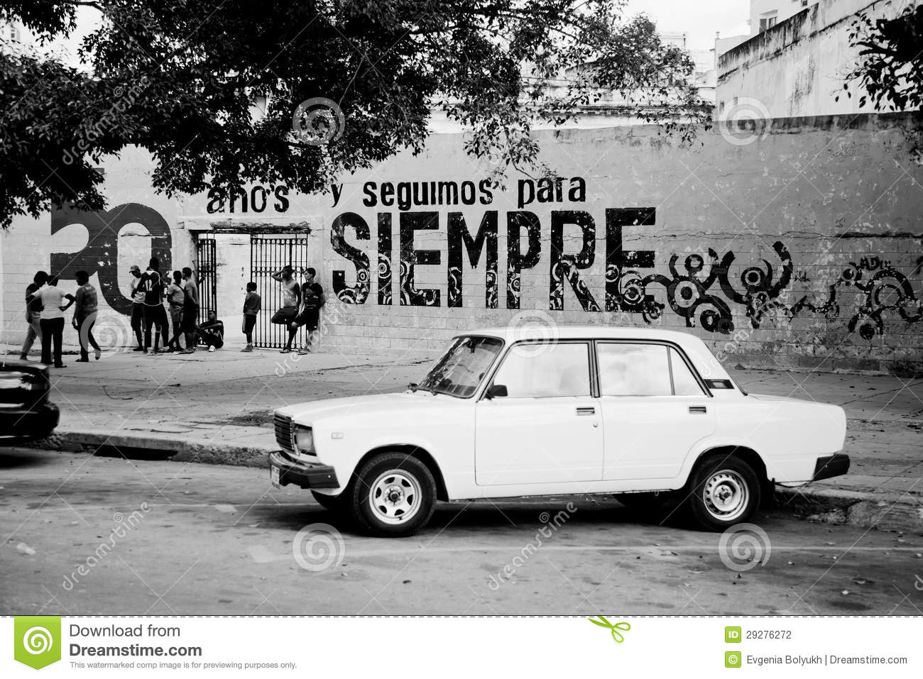 Old Classic Car In Havana, Cuba Editorial Photography - Image of ...