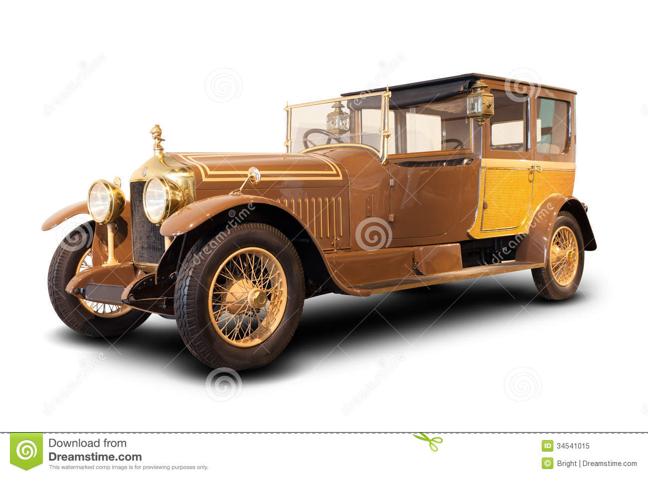 Old Classic Car stock image. Image of vehicle, brown - 34541015