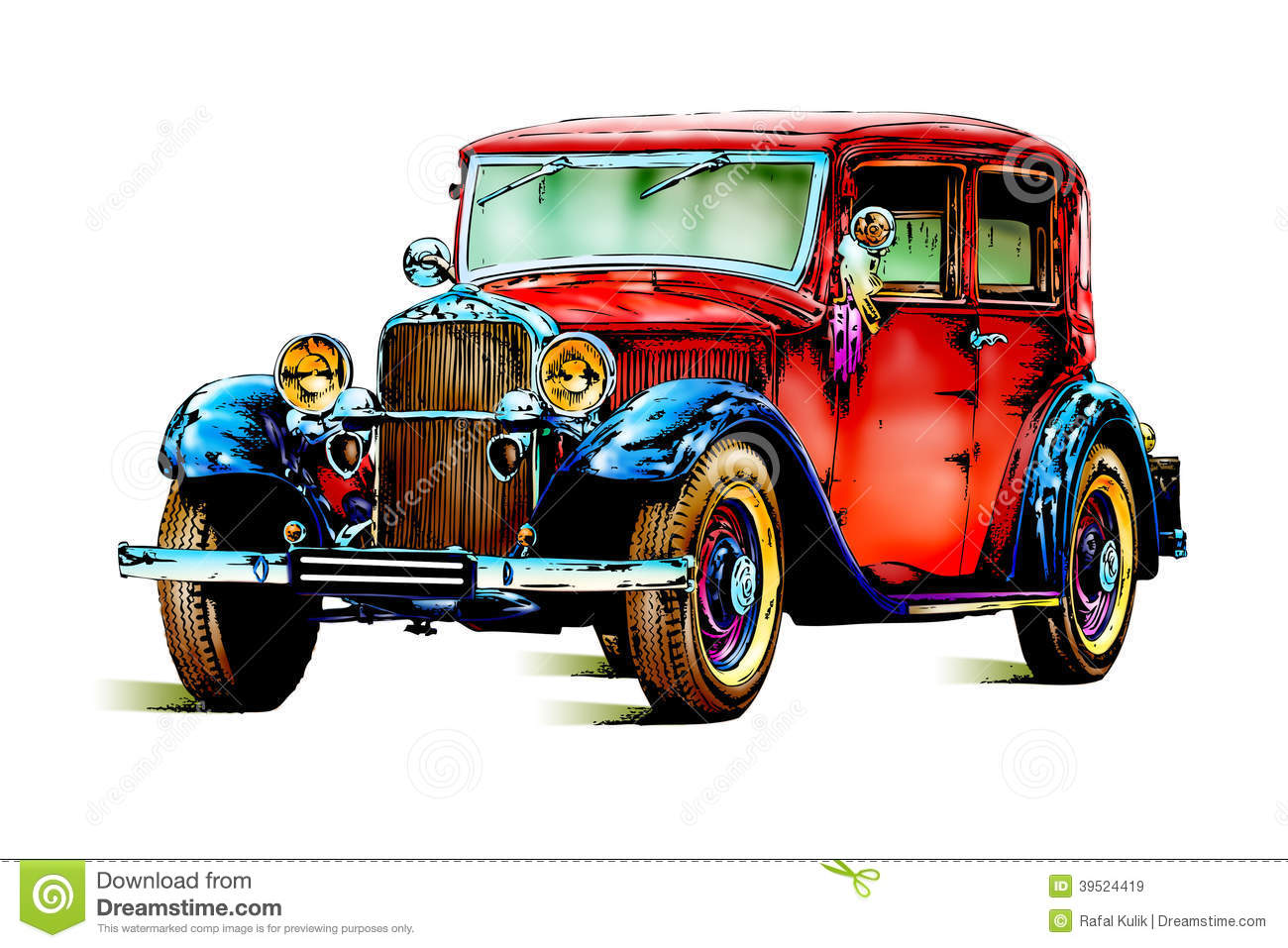 Photo Collection Old School Cars Drawings