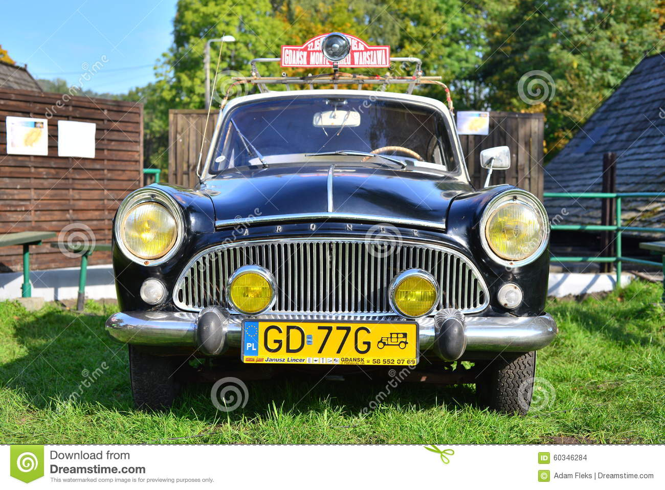 Old classic French car editorial stock image. Image of aronde ...