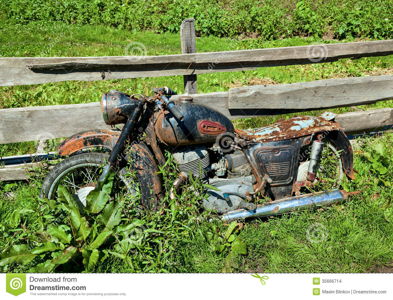 ... motorcycle IZH-56 production 1956 year, found in village on august 18
