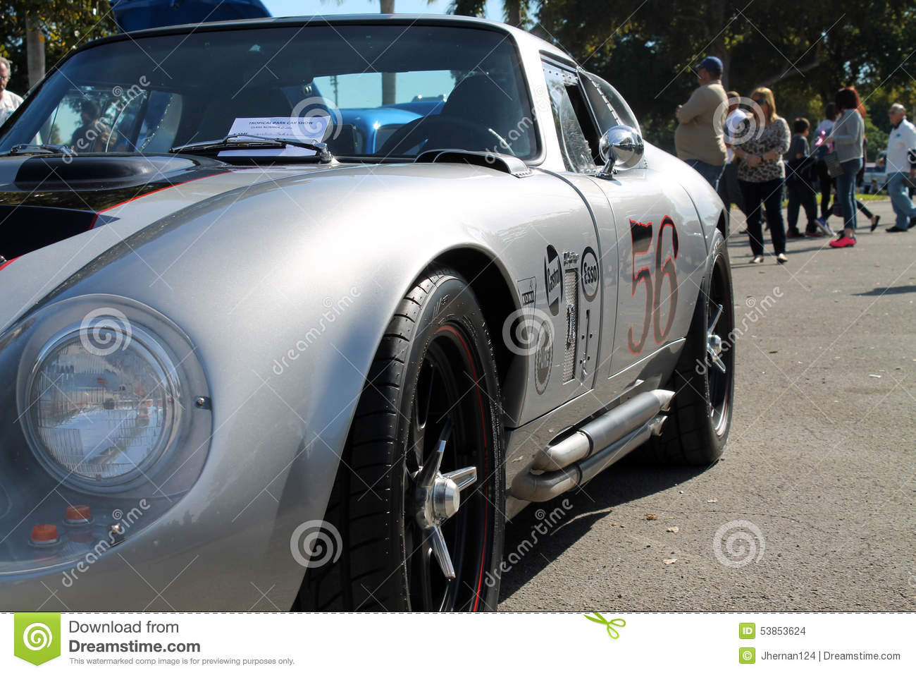 Old classic race car editorial stock image. Image of grey - 53853624