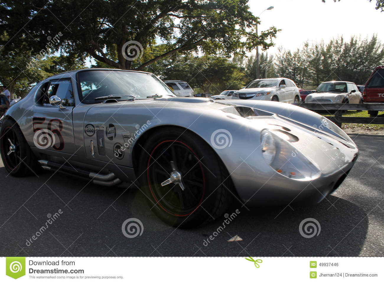 Old classic race car editorial photography. Image of carshow - 53853622