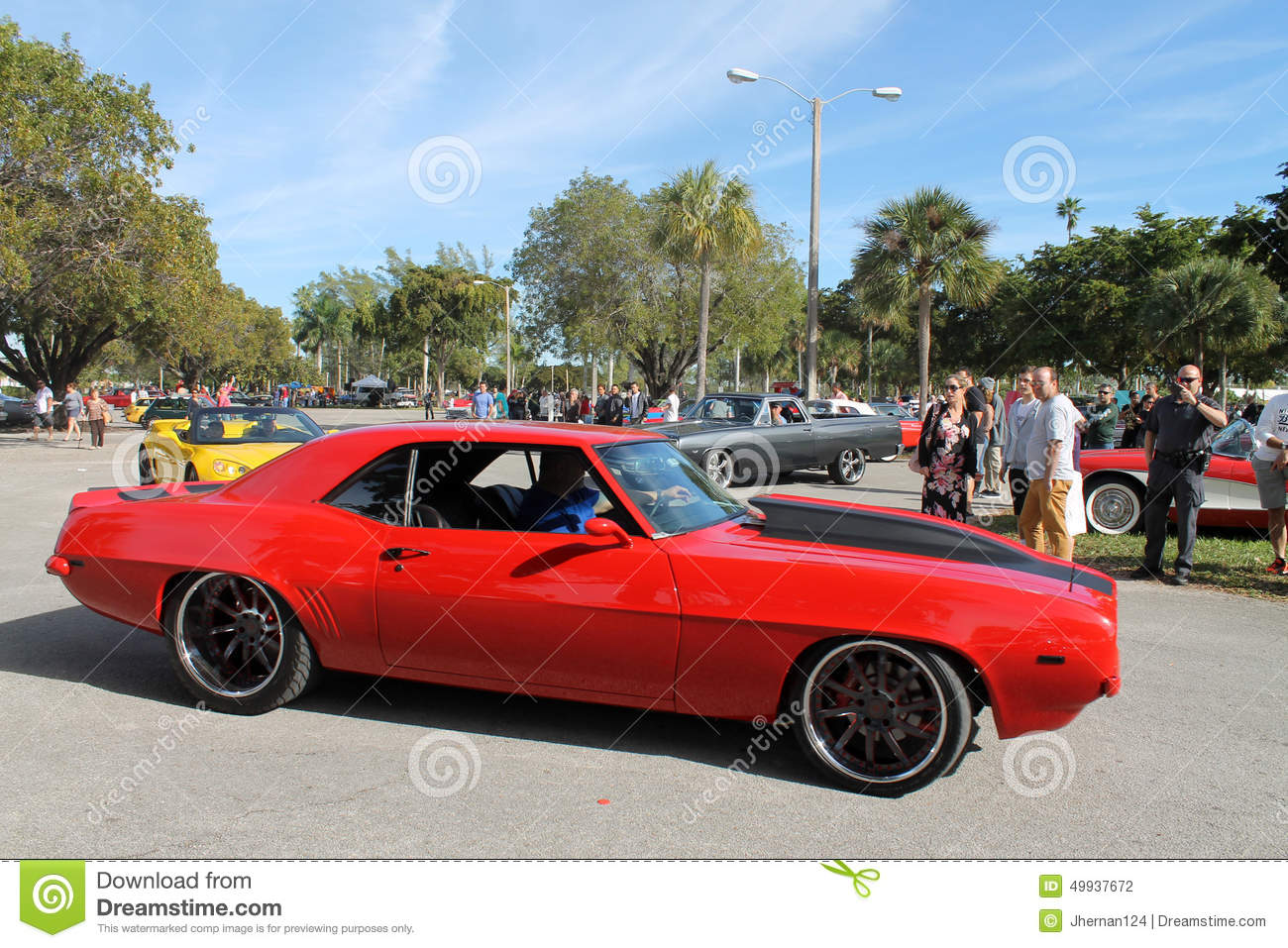 Old Classic Red American Sports Car Editorial Photography - Image ...