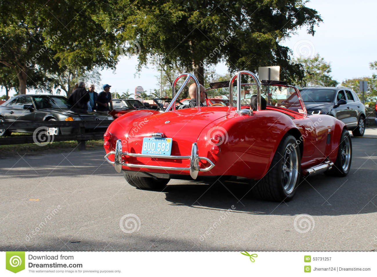 Red Vintage Racing Sports Car Editorial Photo